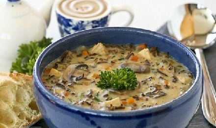 Chicken With White and Wild Rice Soup
